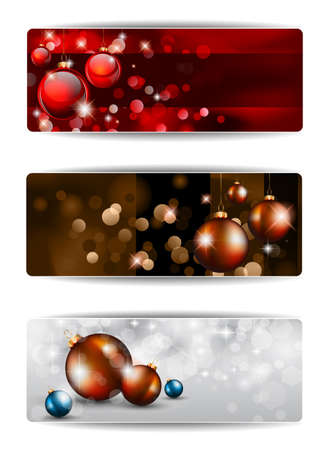 christmas ribbon: Merry Christmas Elegant Suggestive Background for Greetings Card or Advertising Banners Illustration