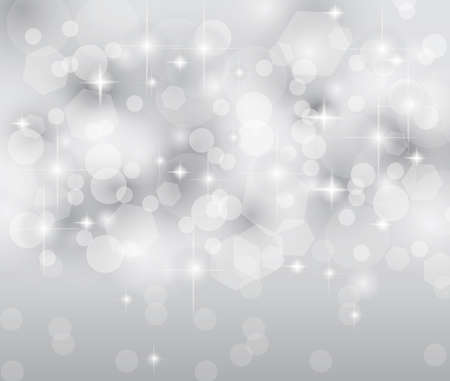 Merry Christmas Elegant Suggestive Background for Greetings Card or Advertising Banner. Delicate lights, glitters adn stars. Vector