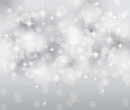 Merry Christmas Elegant Suggestive Background for Greetings Card or Advertising Banner. Delicate lights, glitters adn stars. Illustration