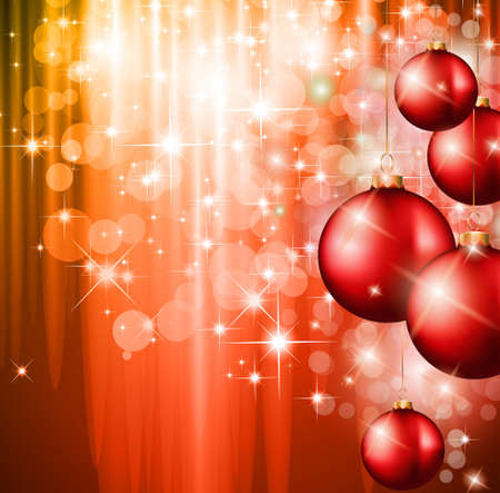 Merry Christmas Elegant Suggestive Background for Greetings Card with complete flow of lights background fully editable. Vector