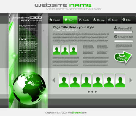 modern web template Stock Vector - 24345283