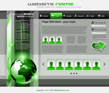 signboard form: modern web template Illustration
