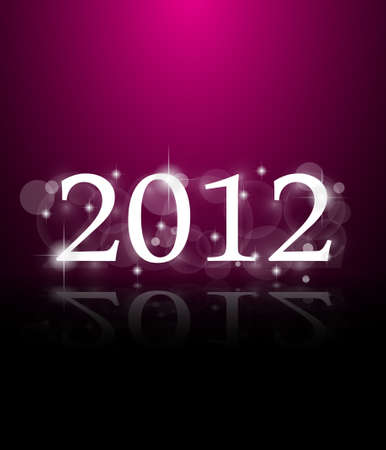 2012 New Year celebration background for cover, Flyer or poster with glitter elements and rainbow colours. Vector