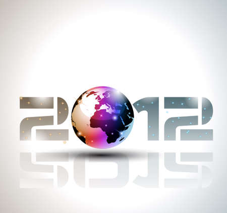 High tech and technology style 2012 happy new year celebration background for your posters, flyers and business presentations. Stock Vector - 10784920