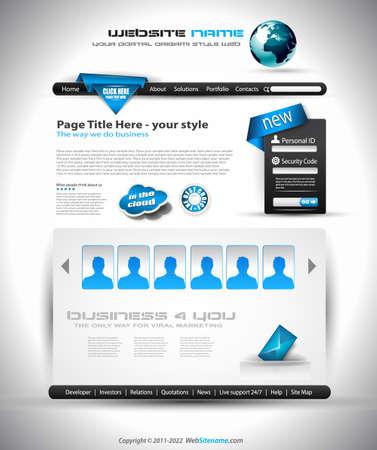 modern web template Stock Photo - 24345284