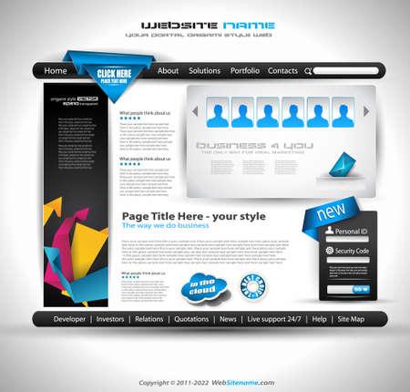 signboard design: modern web template Stock Photo