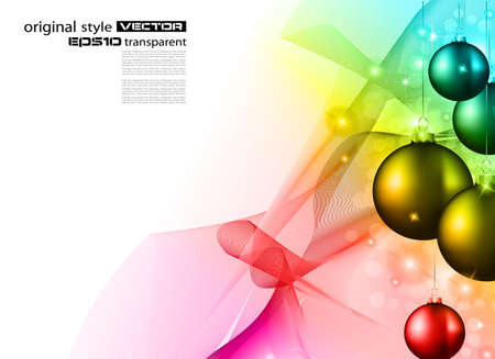 High tech rainbow Chrstmas background for corporate business greetings flyer or presentation Stock Vector - 10938268