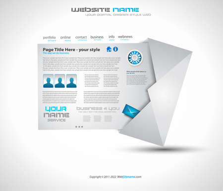 Postage high tech Website - Elegant Design for Business Presentations. Template with a lot of design elements. Every Shadow is transparent Stock Vector - 10938274