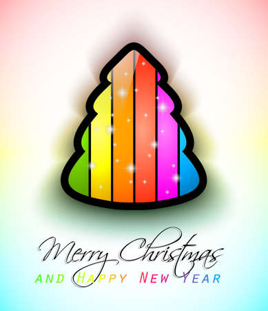 Modern Raonbow Christmas Greetings background for flyers, invitations, cards or posters. Vector