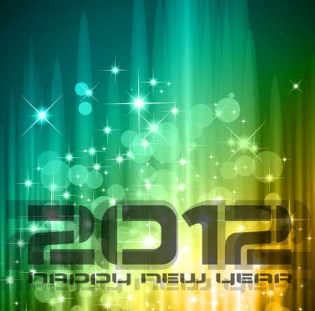 2012 New Year celebration background for cover, Flyer or poster with glitter elements and rainbow colours. Stock Vector - 11274525
