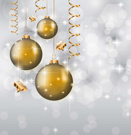 Elegant Classic Christmas Greetings background with lovely tree ideal for flyers, invitations, cards or posters. Vector