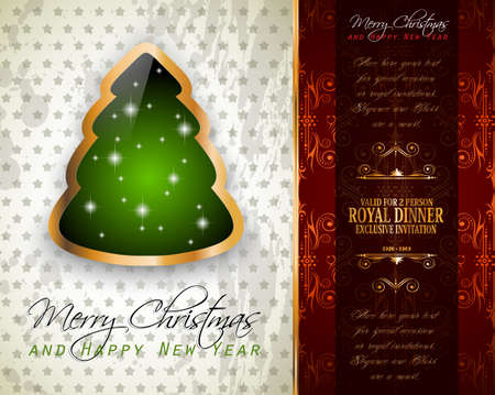 Elegant classic christmas greetings background with lovely tree elegant classic christmas greetings background with lovely tree ideal for flyers invitations cards or m4hsunfo