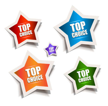 Star bubble speech with Best Choice motive and vibrant colours with a starlight inside. Shadows are transparent. Vector