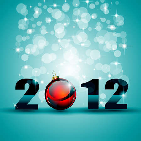 2012 New Year celebration background for cover, Flyer or poster with glitter elements and rainbow colours. Stock Vector - 11478903