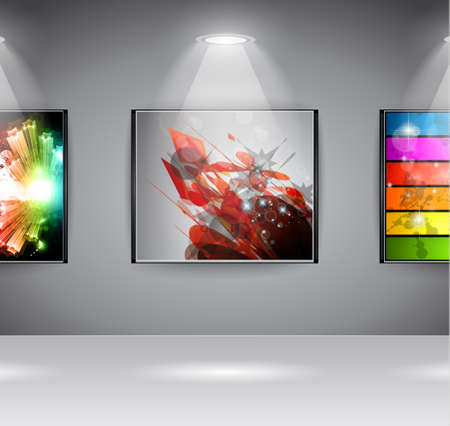 ShowRoom Art Gallery exposition or advertising of object or to use like an intro webpage for website modern project