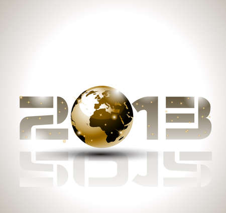 High tech and technology style 2013 happy new year celebration background for your posters, flyers and business presentations. Vector