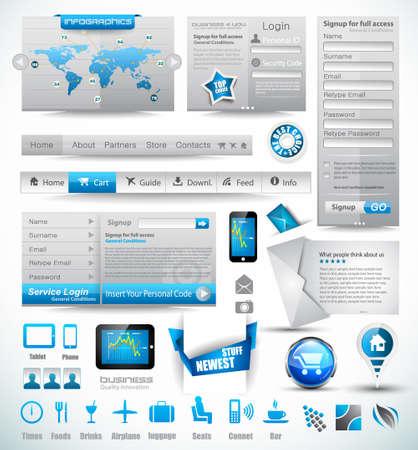 consommation: Mod�les Premium et Master Collection Web choses: des graphiques, des histogrammes, des fl�ches, graphique, infographie, ic�nes et un grand nombre d'�l�ments li�s � la conception.