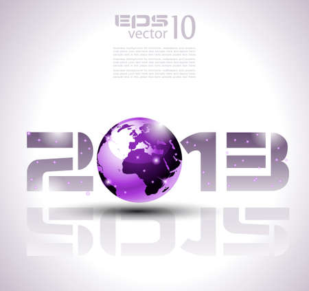 High tech and technology style 2013 happy new year celebration background for your posters, flyers and business presentations. Stock Vector - 13209922