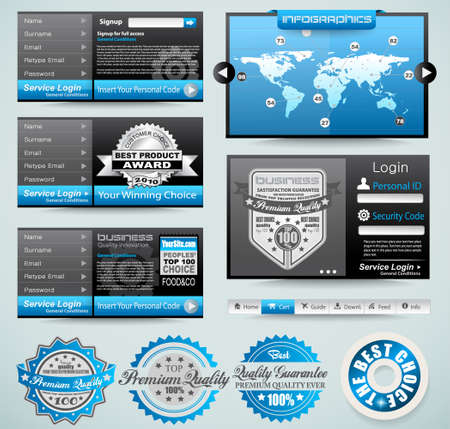 Premium templates and Web stuff master collection: graphs, histograms, arrows, chart, infographics, icons and a lot of related design elements. Stock Vector - 13209918