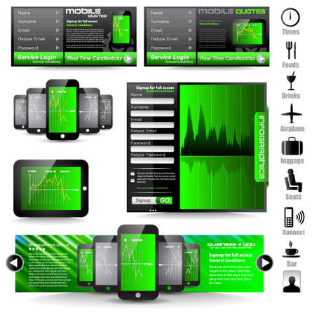Premium templates and Web stuff master collection: graphs, histograms, arrows, chart, infographics, icons and a lot of related design elements. Stock Vector - 13209919