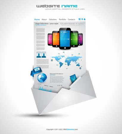lot: Origami Website - Elegant Design for Business Presentations  Template with a lot of design elements  Transparent shadows