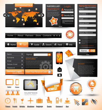 webtemplate: Premium templates and Web stuff master collection  graphs, histograms, arrows, chart, infographics, icons and a lot of related design elements