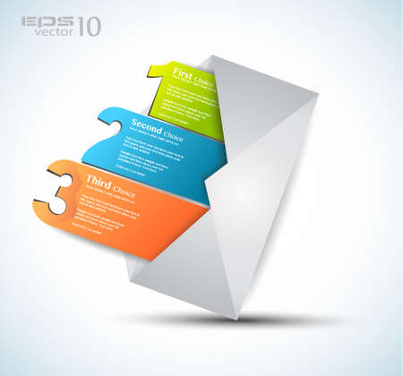 mailing: Postcard  menù with 3 choices  Ideal for web usage, depliant for product comparison or business presentation