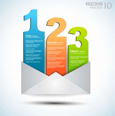 ranking: Postcard  menù with 3 choices  Ideal for web usage, depliant for product comparison or business presentation