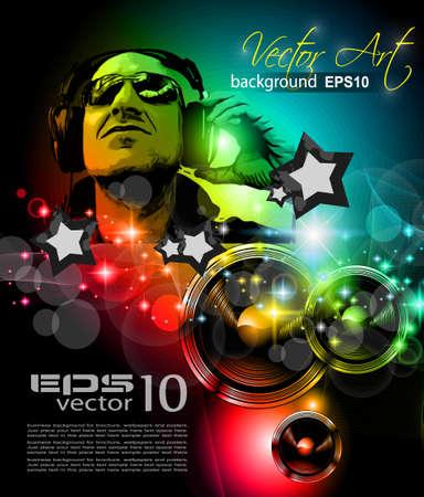 flyer musique: Flyer Alternative Musique Discoth�que pour les clubs de nuit de Miami et des �v�nements musicaux