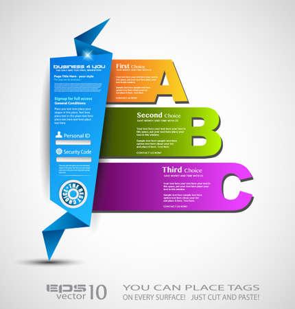 Origami option menu Stock Vector - 13640193