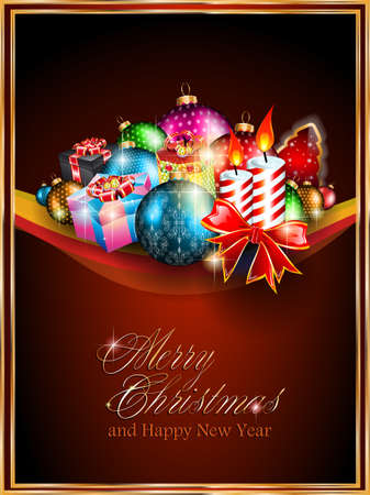 Merry Christmas Elegant Suggestive Background for Greetings Card Stock Vector - 14047349