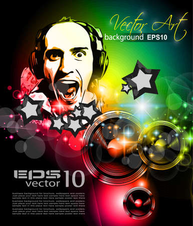 Music Club achtergrond voor disco flyer Vector Illustratie