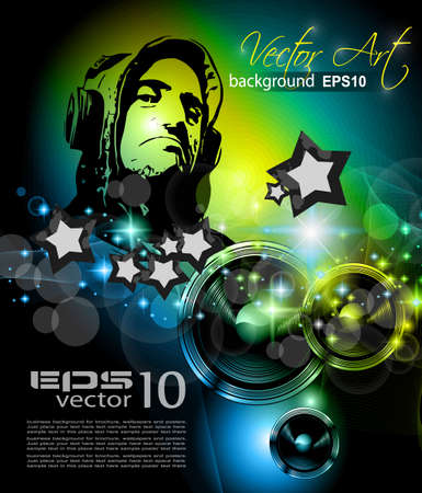 Music Club background for disco flyer Vector