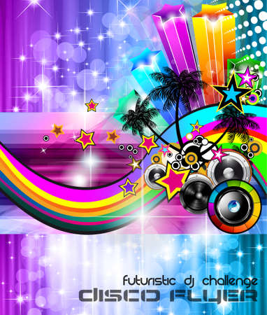 Music Club background for disco flyer Stock Vector - 14047576