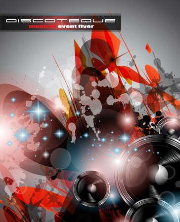 flyer musique: Fond Music Club pour danse disco �v�nement international avec beaucoup d'�l�ments de conception Id�al pour des affiches, des d�pliants et des panneaux publicitaires