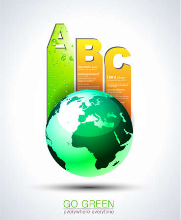 Ranking Papers Tag for Eco Green Corporatesl Classifications! Idea for business presentation Vector