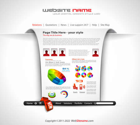 percentual: Modern web templave with paper style background and transparent shadows  Ideal for business website with a lot of infographic charts elemenets