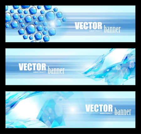 3 business abstract banner for web usage Vector