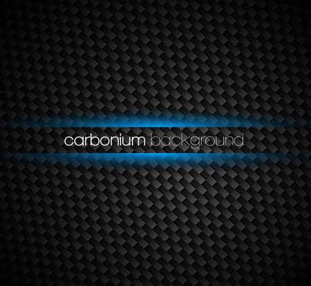 fibra de carbono: Carbon fibra fondo con tonos oscuros y el efecto de luz azul brillo alrededor de su texto.