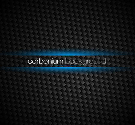 carbon fibre: Carbon fibre background with dark tones and blue light glow effect around your text.