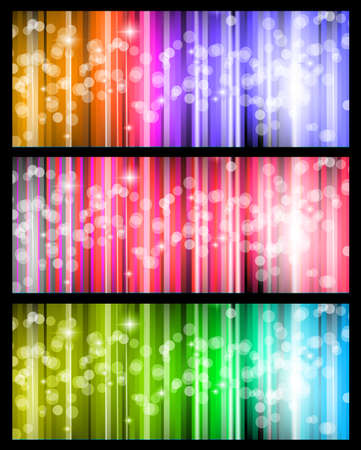 Abstract futuristic background with striped lights and a flow of sparkling stars. Stock Vector - 14853079