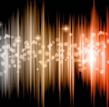 Abstract futuristic background with striped lights and a flow of sparkling stars. Vector