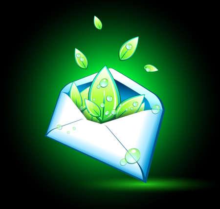 Leaves in envelope Stock Vector - 24345309
