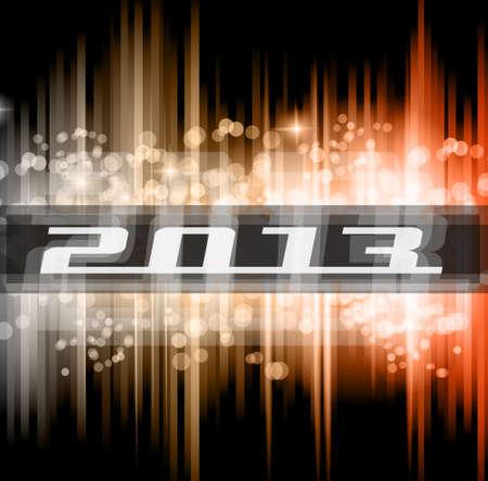 new yea: Hight Tech 2013 a�o nuevo cartel celebraci�n. Ideal para el aviador club o antecedentes invitaci�n del partido.