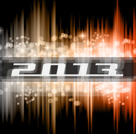 Hight Tech 2013 new year celebration poster. Ideal for club flyer or party invitation backgrounds. Vector