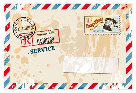 timbre postal: Composición del libro de recuerdos del vintage con elementos de estilo antiguo apenado postales de diseño y marcos de fotos antiguas, más algunas pegatinas de correos.