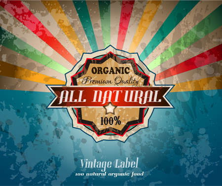 Quality vintage label for premium Restaurant with old fashined and distressed style. Vector