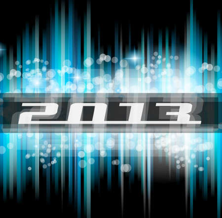 Hight Tech 2013 new year celebration poster. Ideal for club flyer or party invitation backgrounds. Stock Vector - 15363526