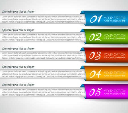 classement: �tiquettes en papier Mordern r�alistes pour le classement des produits ou des graphiques de classification. Id�al pour infographie d'affaires ou des pr�sentations.