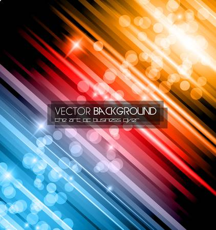 Abstract Glow of Lights background with rainbow colors and starlights. Ideal for business background, high tech covers of abstract advertising posters. Stock Vector - 15363520